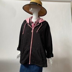 Plus Size Black and Pink Jacket by Quacker Factory